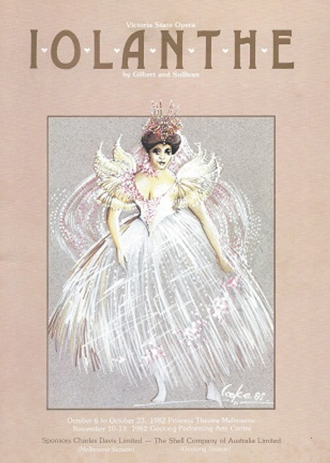 Iolanthe by Gilbert and Sullivan Victoria State Opera (1982) Cast: Christine Douglas, Suzanne Johnston, Val Mills, Bev Shean, Suzanne Steele, Ian Cousins, Rosemary Boyle, Frederick Parslow, Christopher Dawes, John Wood, Stephen Parratt, Barrie Sheppard, Russell Smith, David Butterfield