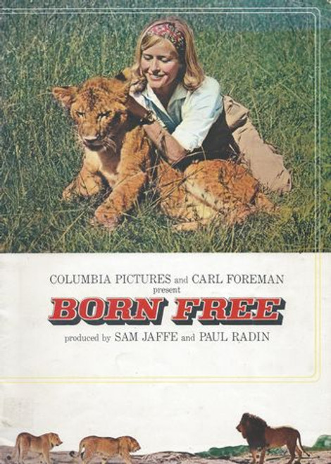Born Free - Movie Program 1966 Starring Virginia McKenna and Bill Travers