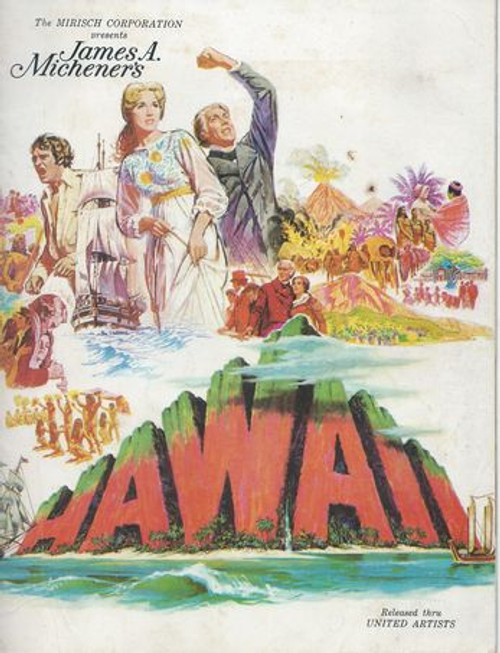 Hawaii (1966) Movie Soft Cover By James A Michener Cast: Julie Andrews, Max Von Sydow, Richard Harris, Carroll O'Connor