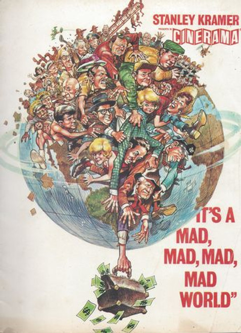 It's A Mad Mad Mad World (1963) Film Directed by Stanley Kramer with a screenplay by William Rose and Tania Rose