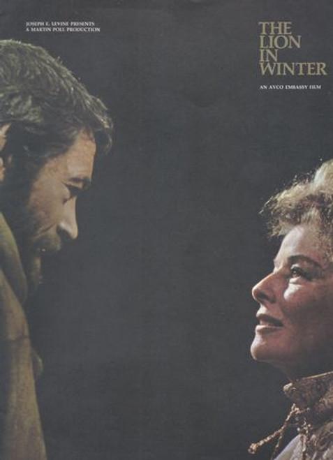 The Lion in Winter (1968) Movie Directed by Anthony Harvey, Peter O'Toole, Katharine Hepburn, John Castle, Anthony Hopkins, Jane Merrow, Timothy Dalton, Nigel Terry.