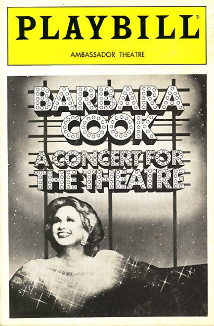 Barbara Cook (born October 25, 1927) is an American singer and actress who first came to prominence in the 1950s after starring in the original Broadway musicals Candide (1956) and The Music Man