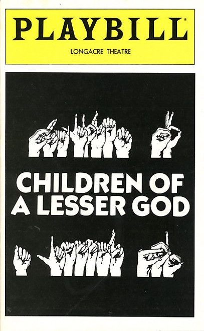 Children of a Lesser God is a play by Mark Medoff, published in 1980 focusing on the conflicted professional and romantic relationship between deaf former student, Sarah Norman, and her teacher, James Leeds