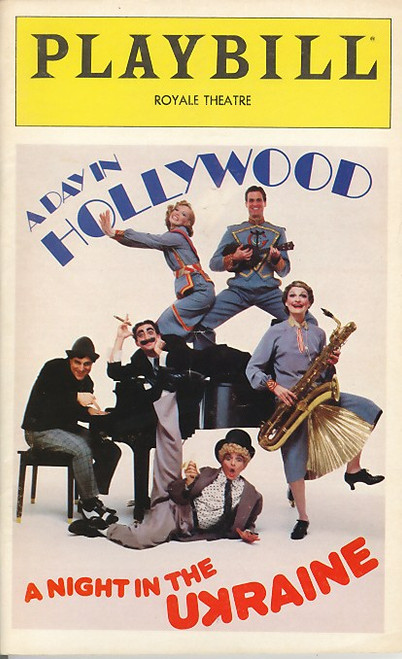 A Day in Hollywood/A Night in the Ukraine is a musical comedy consisting of two essentially independent one-act plays, with a book and lyrics by Dick Vosburgh and music by Frank Lazarus