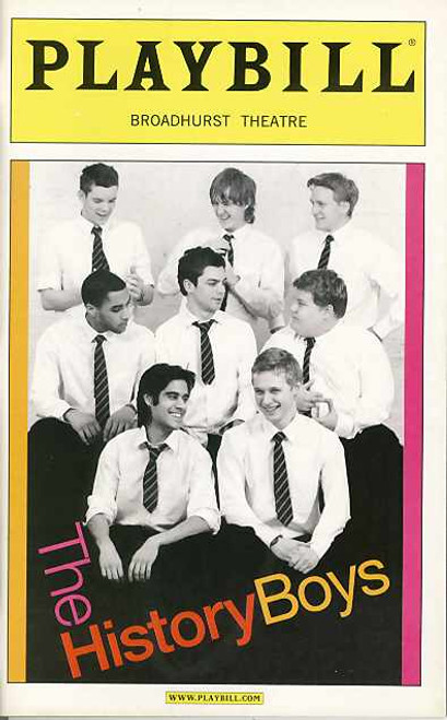 The History Boys is a play by British playwright Alan Bennett. The play premiered at the Lyttelton Theatre in London on 18 May 2004. Its Broadway debut was on 23 April 2006 at the Broadhurst Theatre where there were 185 performances staged before it closed on 1 October 2006.