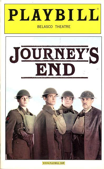 Journey's End is a 1928 drama, the seventh of English playwright R. C. Sherriff. It was first performed at the Apollo Theatre in London by the Incorporated Stage Society on 9 December 1928