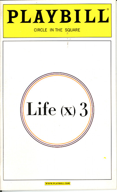 Life (x) 3 (Apr 2003 Play) Helen Hunt, John Turturro, Brent Spiner, Linda Emond Circle in the Square