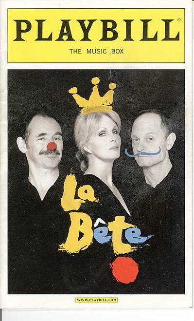 La Bete (Oct 2010) Mark Rylance, David Hyde Pierce, Joanna Lumley The Music Box Theatre