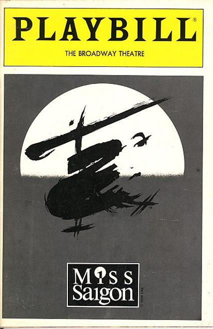 Miss Saigon (Jun 1991 Musical) OBC Jonathan Pryce, Lea Salonga, Lea Salonga, Willy Falk Broadway Theatre