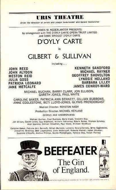 The Mikado (May 1976) D'Oyly Carte, John Ayldon, Geoffrey Shovelton, John Reed Uris Theatre