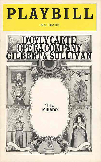 The Mikado (May 1976) D'Oyly Carte, John Ayldon, Geoffrey Shovelton, John Reed Uris Theatre