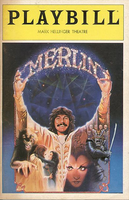 Merlin (Mar 1983) Doug Henning, Edmund Lyndeck, Nathan Lane, Christian Slater - Mark Hellinger Theatre Merlin was a musical based on a concept by popular illusionist Doug Henning and Barbara De Angelis, written by Richard Levinson and William Link, with music (and incidental music) written by Elmer Bernstein and lyrics by Don Black.