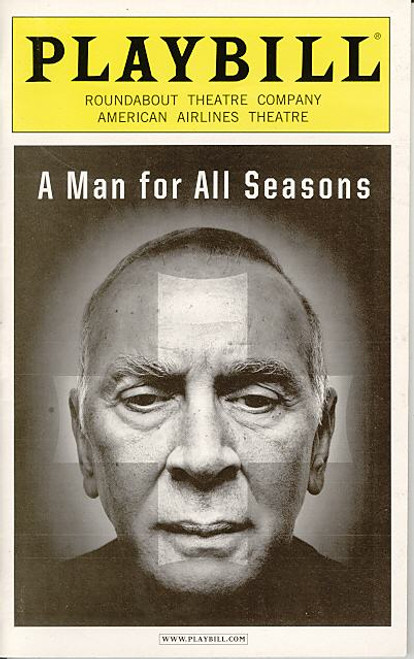 A Man for all Seasons (Sept 2008) Frank Langella, Hannah Cabell, Michael Esper American Airlines Theatre