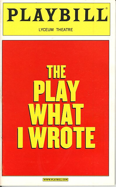 The Play What I Wrote (Mar 2003) Sean Foley, Hamish McColl Lyceum Theatre