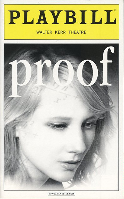Proof (Jul 2002) Len Cariou, Neil Patrick Harris Walter Kerr Theatre
