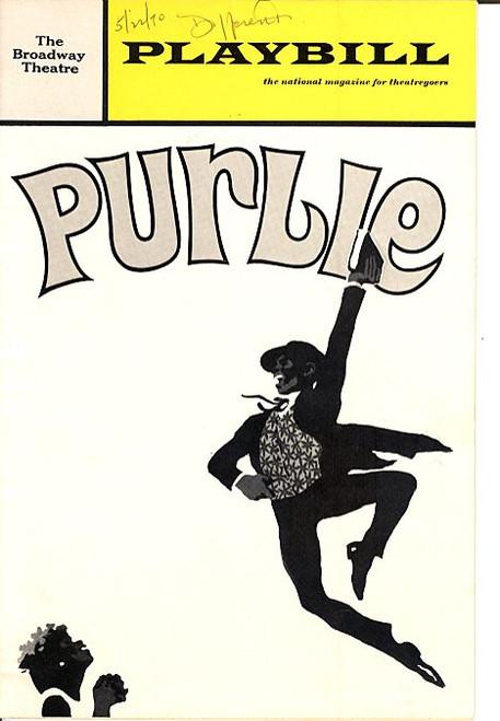 Purlie (May 1970) Cleavon Little, Melba Moore, John Heffernan Broadway Theatre