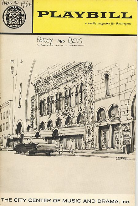 Porgy and Bess (March 1962) Gwendolyn Walters - City Center
