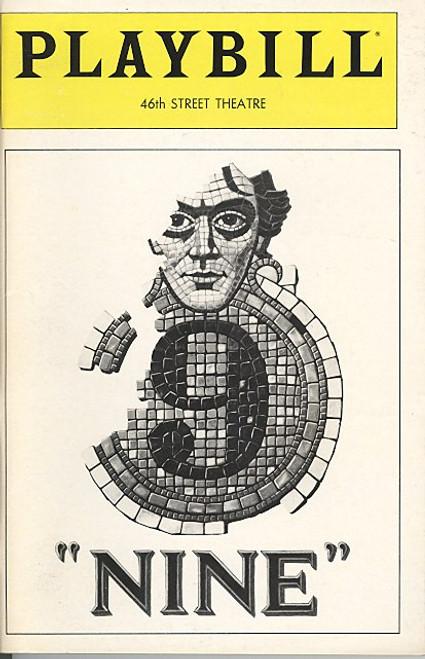 Nine (Oct 1982) Raul Julia, Karen Akers, Shelly Burch Forty-Sixth Street Theatre