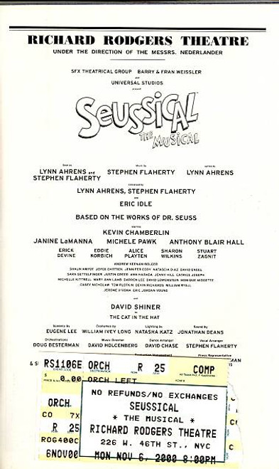 Seussical the Musical (Nov 2000) Kevin Chamberlin - Richard Rodgers Theatre