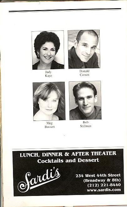 Souvenir (Nov 2005) Judy Kaye, Donald Corren - Lyceum Theatre