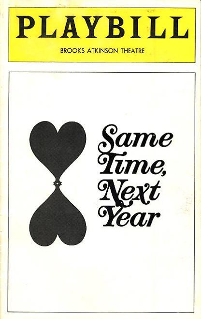 Same Time Next Year (Aug 1975) Ellen Burstyn, Charles Grodin Brooks Atkinson Theatre
