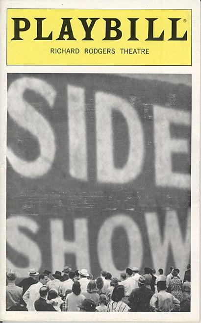Side Show (Jan 1998) Alice Ripley, Emily Skinner, Jeff McCarthy Richard Rodgers Theatre