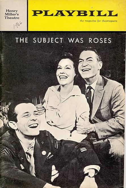 The Subject was Roses (Jan 1966) Maureen O'Sullivan, Chester Morris, Walter McGinn Henry Miller's Theatre
