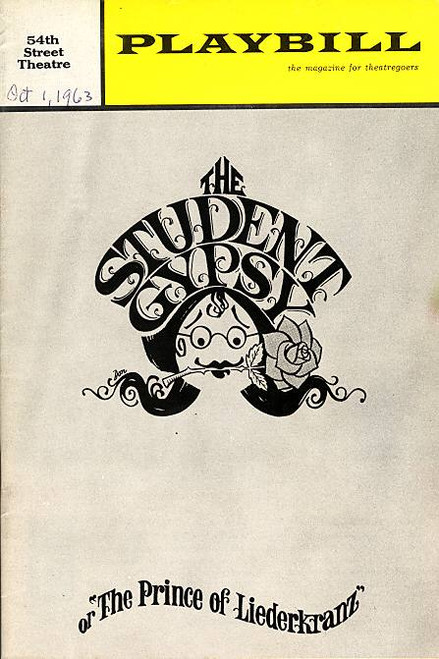 The Student Gypsy  (Musical) Eileen Brennan, Dom De Luise Fifty-Fourth St Theatre