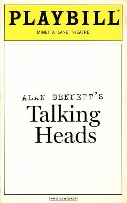 Talking Heads (Play) Lynn Redgrave, Kathleen Chalfant, Daniel Davis Christine Ebersole Minetta Lane Theatre