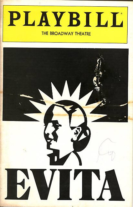 Evita (Mar 1982) Derin Altay, James-Stein-David  - Broadway Theatre Evita is a musical production, with music by Andrew Lloyd Webber and lyrics by Tim Rice