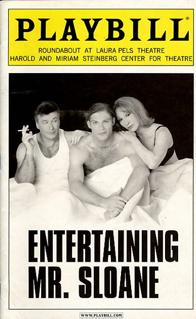 Entertaining Mr Sloane by Joe Orton (Mar 2006 Play) Alec Baldwin - Roundabout Theatre Company Entertaining Mr Sloane is a play by the English playwright Joe Orton. It was first produced in London at the New Arts Theatre on 6 May 1964 and transferred to the West End's Wyndham's Theatre on 29 June 1964.