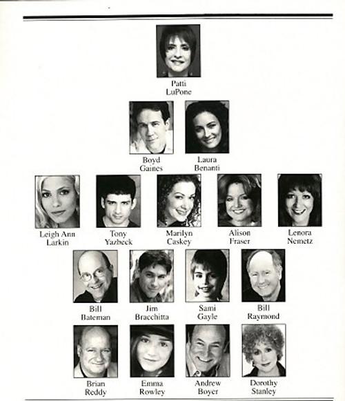 Gypsy (Mar 2008) Patti LuPone, Boyd Gaines, Laura Benanti, Leigh Ann Larkin St James Theatre