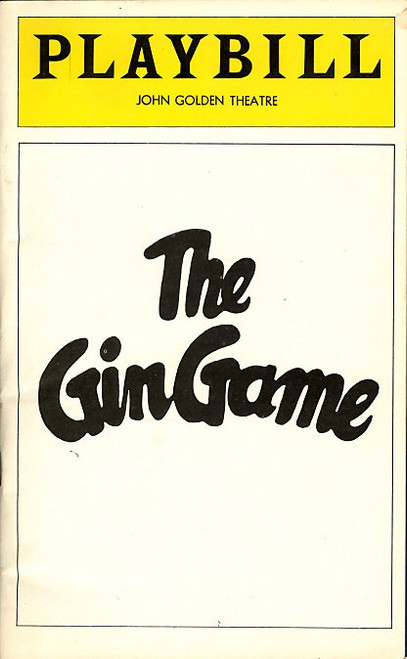 The Gin Game (Oct 1978) Maureen Stapeton, E. G. Marshall John Golden Theatre