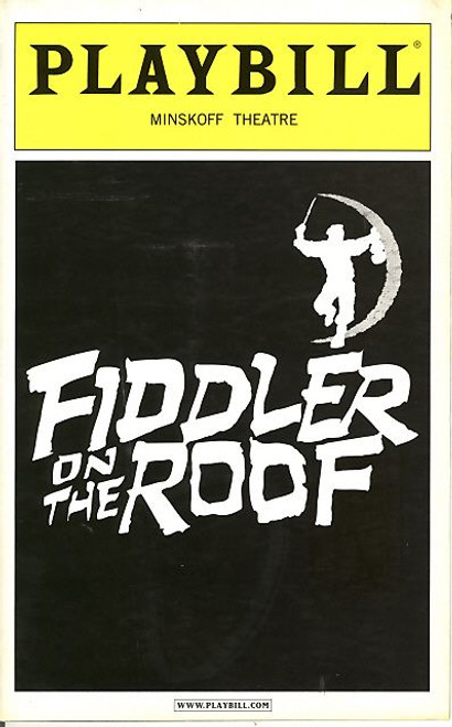 Fiddler on the Roof (Sept 2005) Harvey Fierstein,  Rosie O'Donnell, Nancy Opel Minskoff Theatre