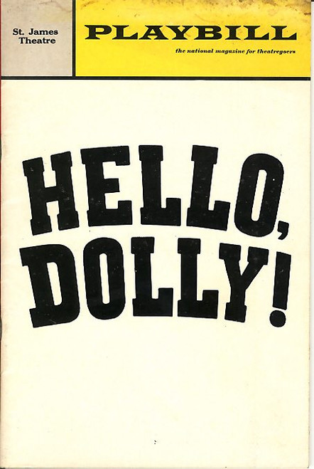 Hello Dolly (Feb 1967) Martha Raye, David Burns, Alice Playten, Will Mackenzie St James Theatre
