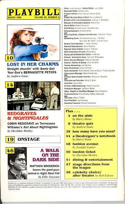 Jekyll and Hyde (Mar 1999) Robert Evan, Luba Mason, Anastasia Barzee Plymouth Theatre