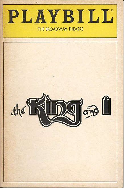 The King and I (1985) Yul Brynner, Mary Beth Peil, Patricia Welch, Irma-Estel Laguerre Broadway Theatre