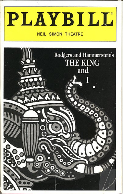 The King and I (Nov 1996) Donna Murphy, Lou Diamond Phillips Neil Simon Theatre