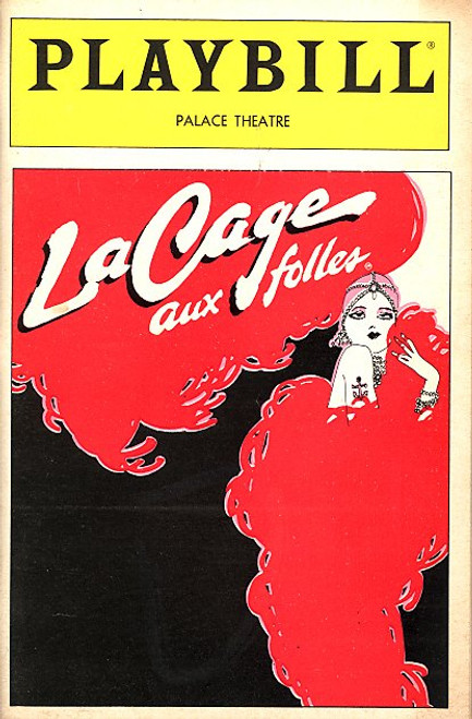 La Cage Aux Folles (Mar 1984) OBC George Hearn, Gene Barry, Jay Garner, John Weiner Palace Theatre