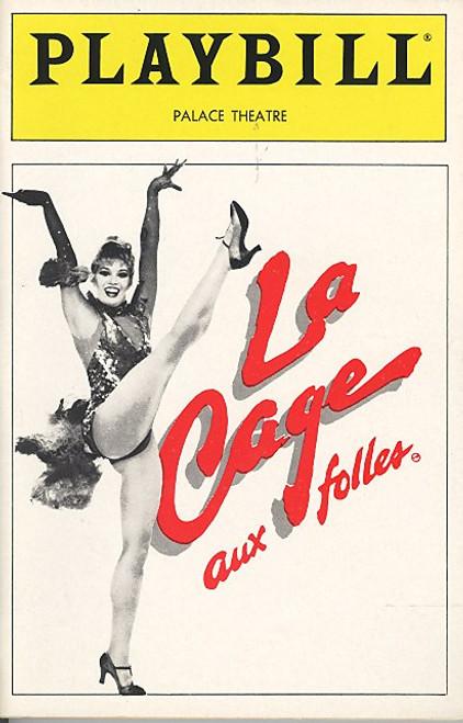 La Cage Aux Folles (Sept 1986) Walter Charles, Steeve Arlen, Jay Garner, John Weiner Palace Theatre