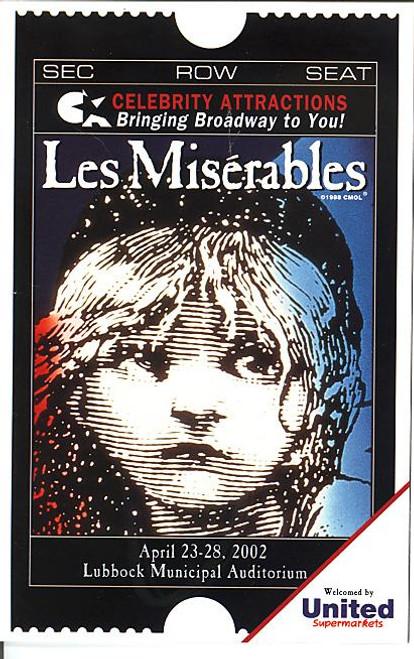 Les Miserables (Apr 2002) Randal Keith, Joseph Mahowald, Jayne Paterson Lubbock Municipal Auditorium
