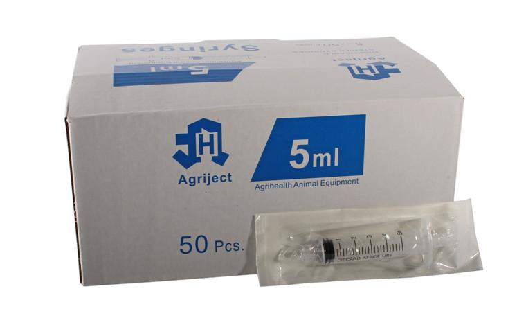 Agrihealth 5ml Agriject Syringe Luer Slip Centre Tip UKMEDI UK Medical Supplies