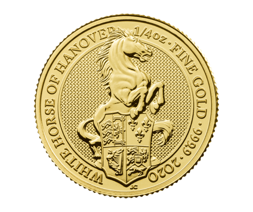 1/4 oz Gold Queen's Beast - The White Horse of Hanover