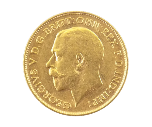 King George V Gold Half Sovereign