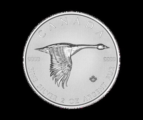 2oz Canada Goose Silver Coin