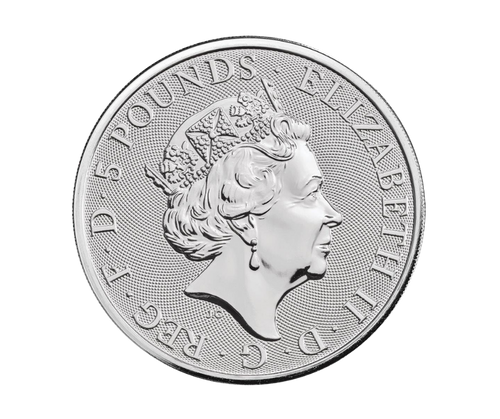 2oz Silver Queen's Beast, Lion of Mortimer