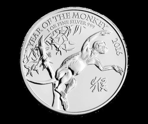 1oz Silver Lunar Year of the Monkey