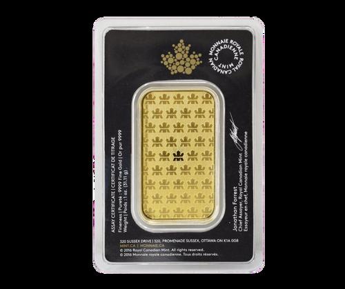 1 oz Wafer Gold Bar   Royal Canadian Mint