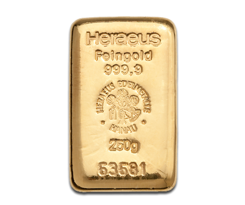 250g Gold Bar   Heraeus