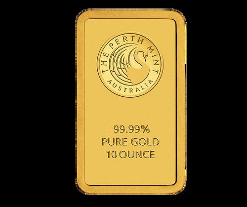 10oz Gold Bar   Perth Mint